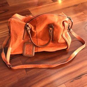 Nicole Orange Leather Purse Italy